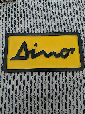 DINO banner sign 12x36 man cave Ferrari garage sign with grommets
