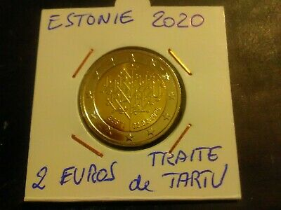 Piece 2 euros commémorative Estonie  2020 Traité De Tartu UNC