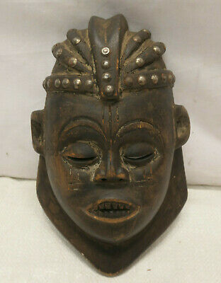 Vintage Mask Wooden Japanese Tribal Hand Made Display Wall hanging #256