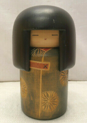 Kokeshi Creative Style Wooden Japanese Doll Handpainted Wood Vintage  #616