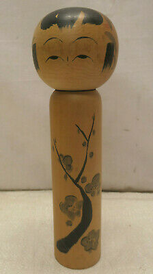 Kokeshi Traditional Style Wooden Japanese Doll Vintage  BLOSSOMS #622