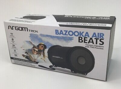 Bazooka Air Beats Compact Bluetooth Speaker Black