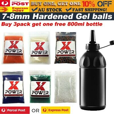 7-8MM Gel Balls HARDENED Ammo 7.3mm Milky white BRUISERS Tracer Glow Gel Blaster