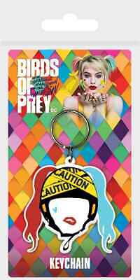 Dc Harley Quinn Caution Birds Of Prey Rubber Keyring New Official Merch