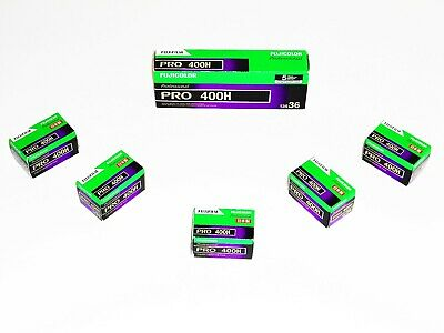 5 x Rolls FUJI PRO 400H COLOUR NEG--35mm/36 exps--ULTRA FRESH--expiry: 08/2021