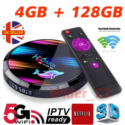 2020 H96 MAX X3 4GB+128GB Android 9.0 TV Box Smart Amlogic S905X3 Dual WIFI UK