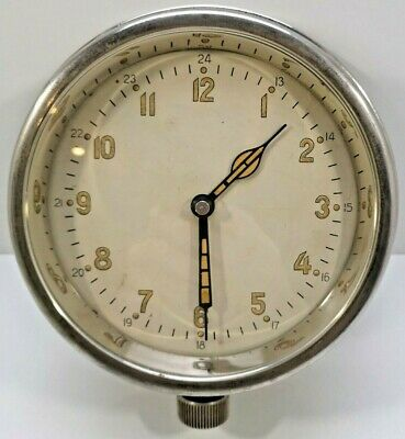 SERVICED 1951 Soviet Ship Nava Clock Mechanical Submarine Marin Cabin Wall USSR