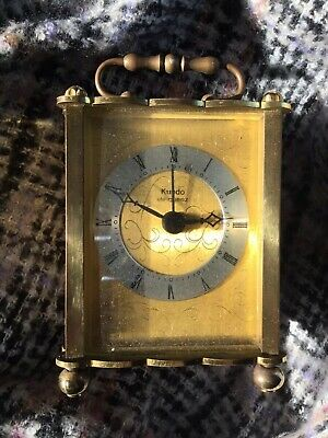 Kundo Keininger & Obergfell German Mantel Clock Brass Carriage Not Working