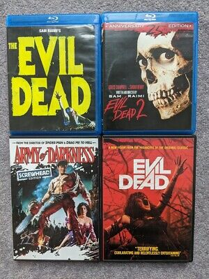 Evil Dead Series 1 2 3 Remake Lot Army Of Darkness DVD Blu-Ray Horror II Rare