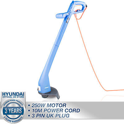 Grass Strimmer Electric Trimmer Corded Garden 250W 10m Power Cable HYUNDAI