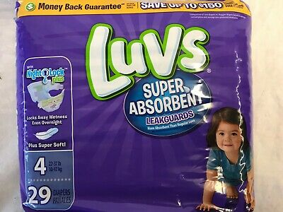 Luvs Ultra Leakguard Size #4 22-37Lbs Lot of 1 - 29 Count Free Shipping