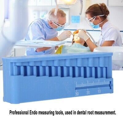 Dental Root Endo Block Measure Endodontic Ruler Autoclavable Measuring Block