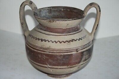 QUALITY LARGE ANCIENT GREEK DAUNIAN POTTERY KANTHAROS 5/4th CENTURY BC