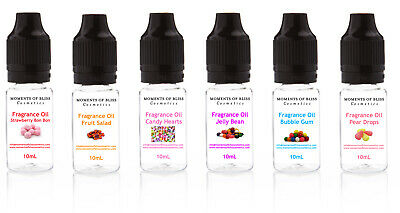 Sweet Fragrance Oils 6 x 10ml Highly Concentrated for Soap Bath Bombs Candles