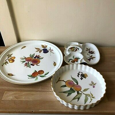 Group of 3 Royal Worcester Evesham Gold Serving Pieces