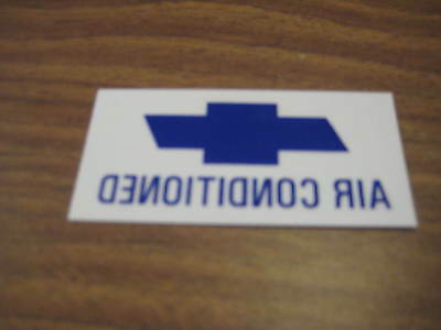 """66 67 Chevelle El Camino /""""air conditioned /"""" new widow decal sticker"""