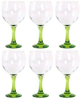 Box of 6 Gin and tonic cocktail wine spanish balloon glasses 650ml GREEN foot