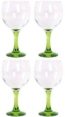 4x Gin and tonic cocktail wine spanish balloon glasses 650ml GREEN foot