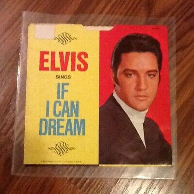 Elvis Presley If I Can Dream Sheet Music Piano Vocal Guitar SongBook N 000154678
