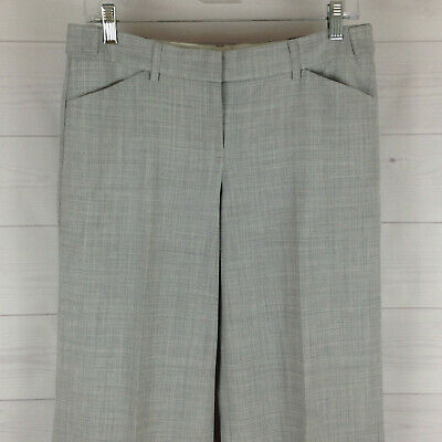 Express Editor womens size 6 stretch gray flat front wide dress career pants