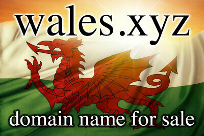 WALES.XYZ Domain Name ( Then Just £10 per year to renew)