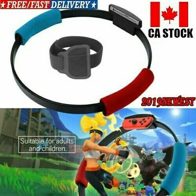 Nintendo Switch Ring Fit Adventure Fitness Sensor Ring-Con+Leg Strap HOT IN US G
