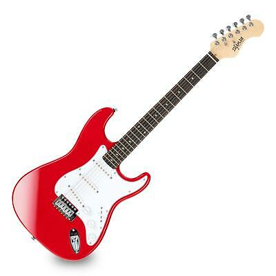Electric Guitar Strat ST-Style 3x Single Coil 22 Frets with Tremolo Cutaway Red