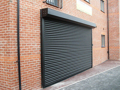 GALVANISED STEEL ELECTRIC ROLLER SHUTTER / COMMERCIAL DOORS - All sizes.