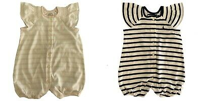 Genuine Ralph Lauren Baby Girls Ruffle Romper Babygrow Striped 3 - 12 mths