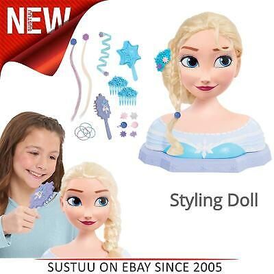 Disney Frozen Deluxe Elsa Styling Head│Fashion Accessories Doll Toy│3y+