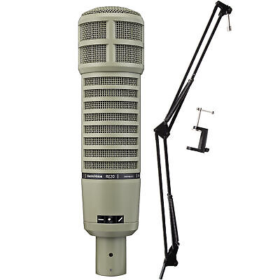 Electro Voice Re20 Broadcast Dynamic Microphone Bundle with Buhnecaster Mount