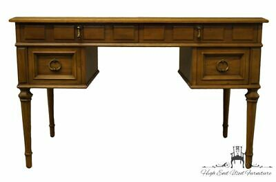 """DREXEL HERITAGE Esperanto Collection 52"""" Writing Desk w. Tooled Leather Top 4..."""