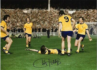 Charlie George Arsenal Authentic Hand Signed 16 x 12 inch football photo SS016