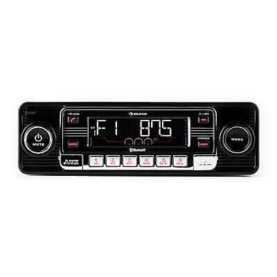 Autoradio USB Bluetooth Lettore CD Estraibile RDS Retro Radio AM FM Mp3 Nero