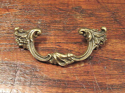 Vintage Antique Solid Brass Victorian French Provincial Drawer Pull