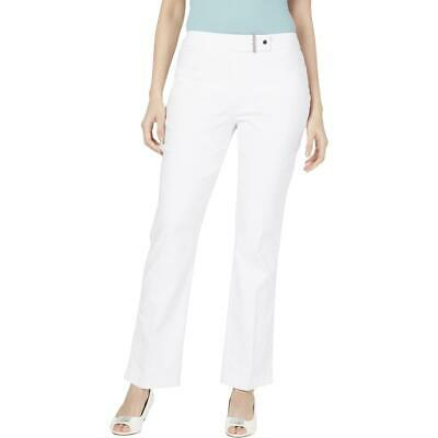 JM Collection Womens Curvy Fit Tummy Control Straight Leg Pants BHFO 6133
