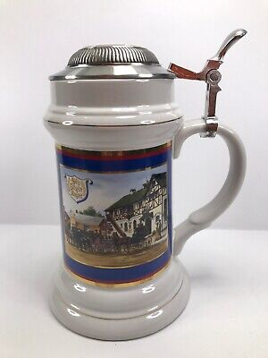 """Old Style Lager BLUE Vintage-Limited Edition Beer Stein Series Mug With Lid 8"""""""