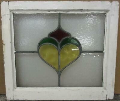 """OLD ENGLISH LEADED STAINED GLASS WINDOW Pretty Abstract Design 20.5"""" x 18"""""""