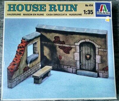 Royal Model 1//35 Sicilian Typical Italian 2-Story House Ruin Section w//PE 487