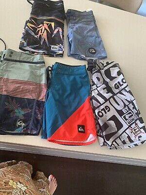Boys boardshorts Quiksilver And 1 globe Pair