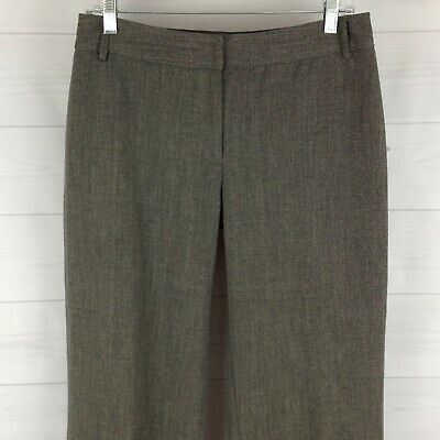 APT.9 womens size 8 short stretch gray flat front straight dress career pants