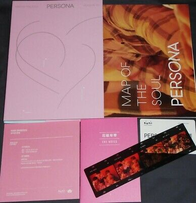 BTS Map of the Soul Persona Version 01 w/ Folded Poster & Film Strip No PCs