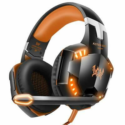 G2000 3.5mm Gaming Headset MIC LED Headphones for PC Laptop PS4 Xbox One Orange
