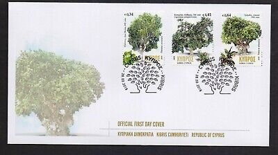 Cyprus 2019 Trees Mnh Set Stamps On Fdc Combined Shipping