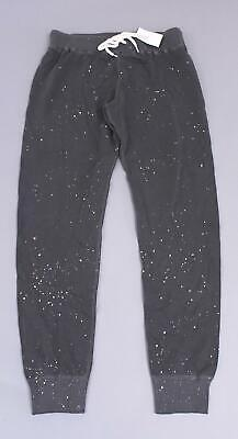 Monrow Women's Maternity Under-Belly Jogger Pants KB8 Gray Paint Splatter Small