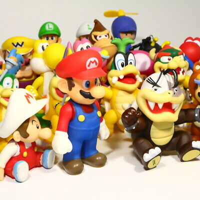 Super Mario Luigi Yoshi KoopaTroopa Goomba 12PCS Action Figure Kid Toy Xmas Gift