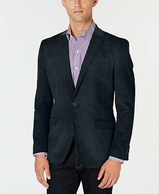 $295 Kenneth Cole Unlisted Slim-Fit Navy Corduroy Sport Coat Mens 44L 44 NEW