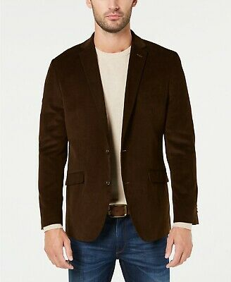 $295 Kenneth Cole Unlisted Slim-Fit Brown Corduroy Sport Coat Mens 40R 40 NEW
