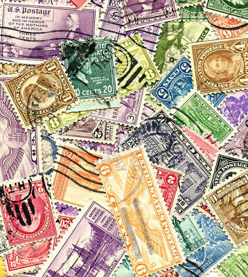 Collection of United States Postage Stamps Off Paper Lot of 500 pcs CV $125.00