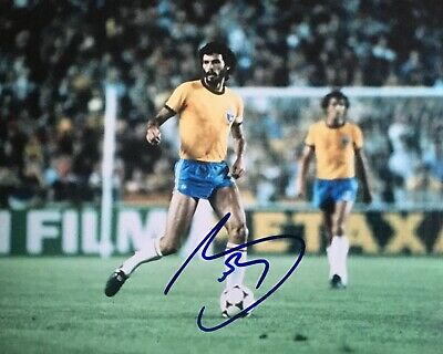 Socrates signed 10x8 Brazil photo Image B UACC AFTAL registered dealer COA RACC